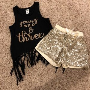 Young, Wild, and Three outfit!